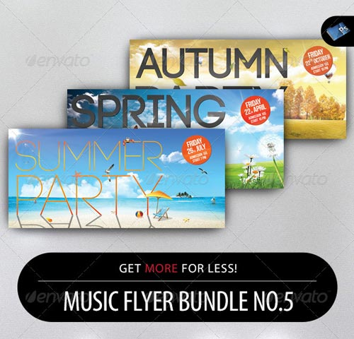GraphicRiver Music Flyer Bundle No.5
