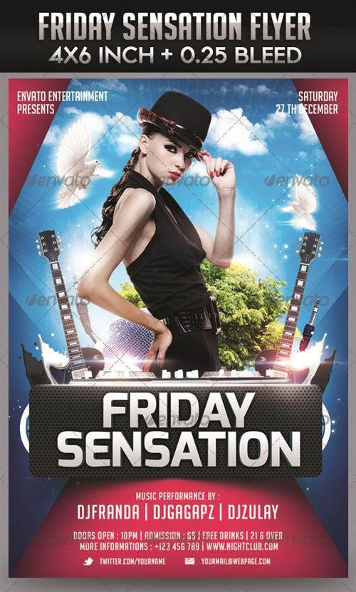 GraphicRiver Friday Sensation Flyer Templat