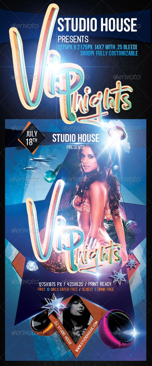 GraphicRiver Vip Nights Party Flyer