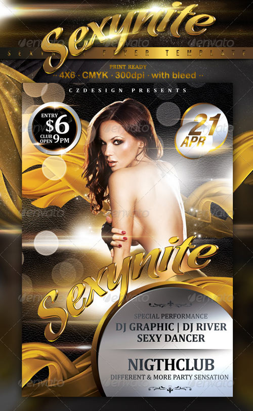GraphicRiver Sexynite Flyer Template