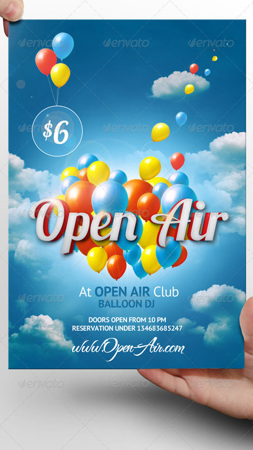 GraphicRiver Open Air Flyer Template