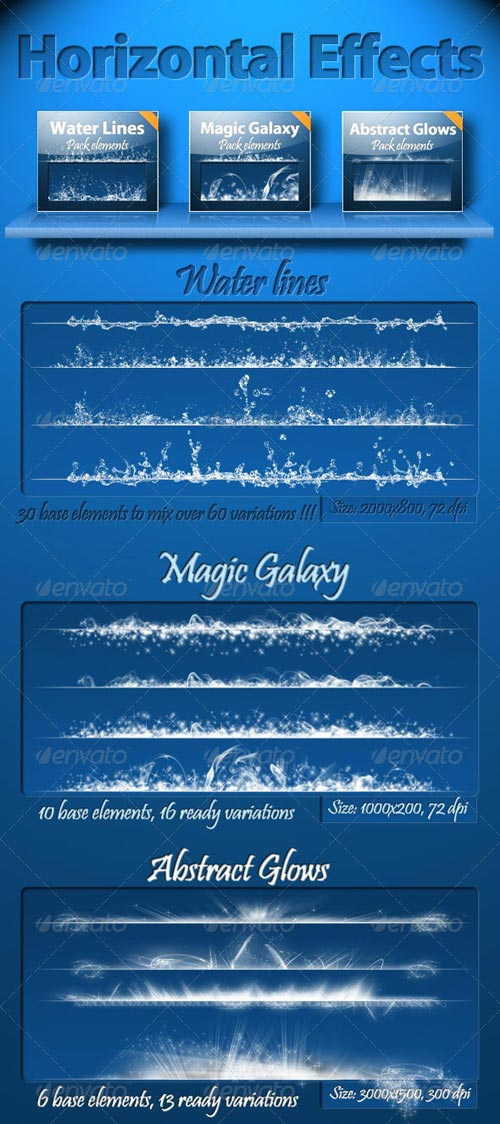 GraphicRiver Horizontal Effects Pack