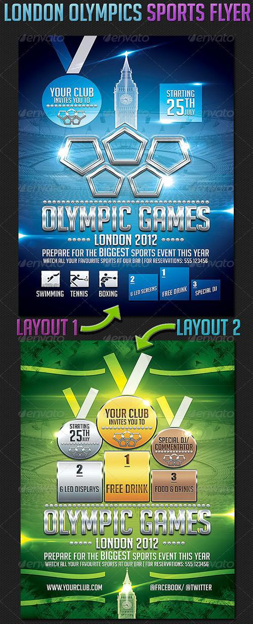 GraphicRiver London Olympics Sports Flyer