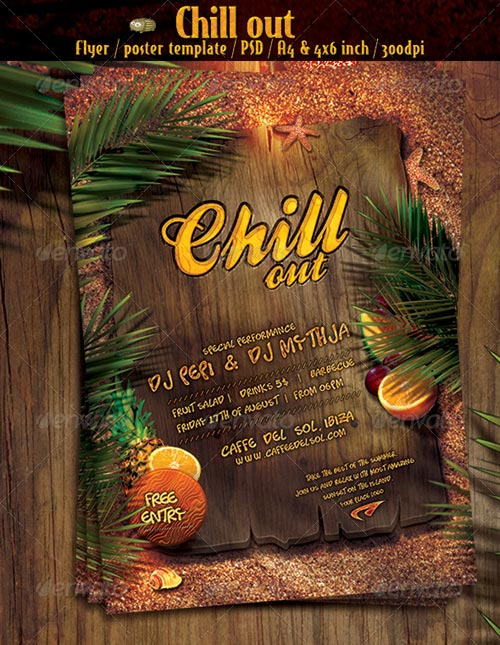 GraphicRiver Chill out vol.1 - party flyer/poster template
