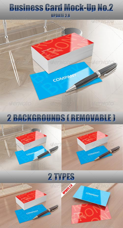 GraphicRiver Business Card Mock-Up No.2