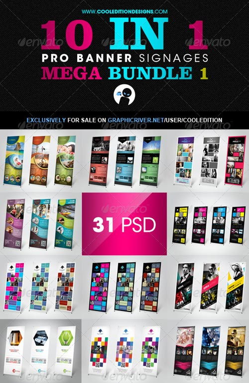 GraphicRiver 10 In 1 Pro Banner Signages Mega Bundle 1