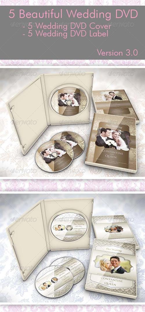 GraphicRiver 5 Beautiful Wedding DVD Ver 3.0