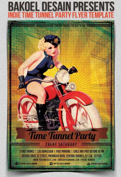 GraphicRiver Indie Time Tunnel Party Flyer Template