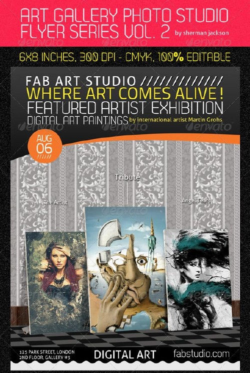 GraphicRiver Digital Art Studio & Gallery Flyer PSD Vol.2
