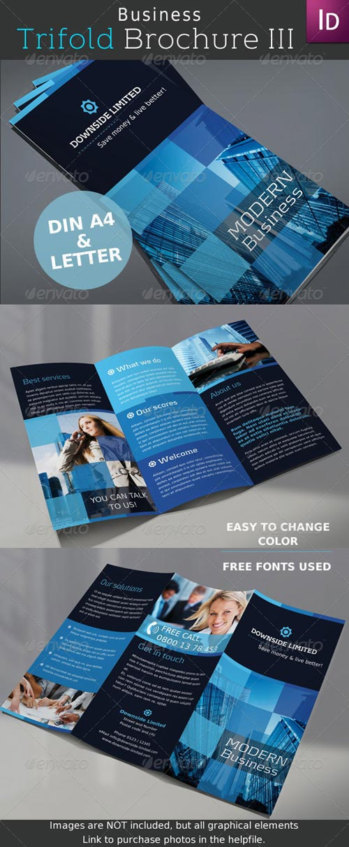 GraphicRiver Business Trifold Brochure Vol. III