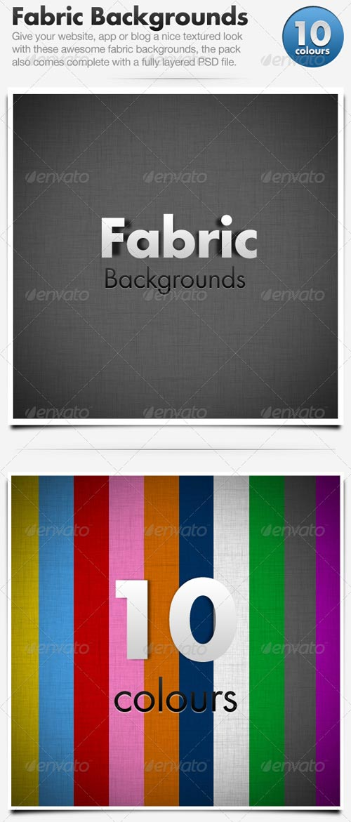 GraphicRiver Fabric Backgrounds x10