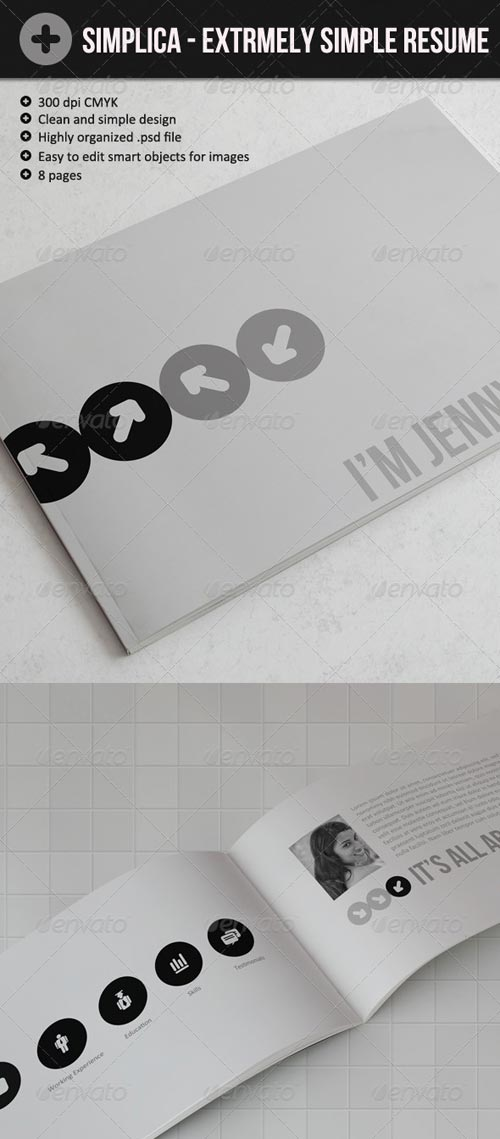 GraphicRiver Simplica – Ultra Simple Resume Book