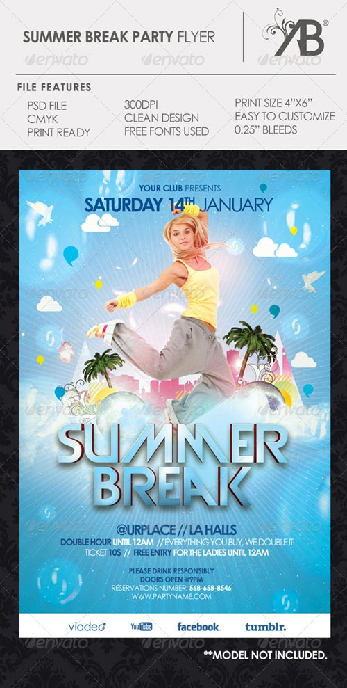 GraphicRiver Summer Break Flyer
