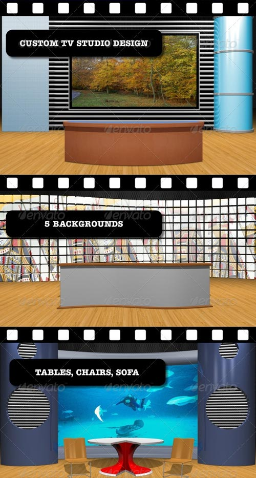 GraphicRiver Custom TV Studio Design
