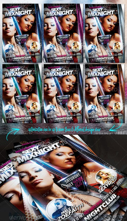 GraphicRiver Sexy Mixnight Flyer Template