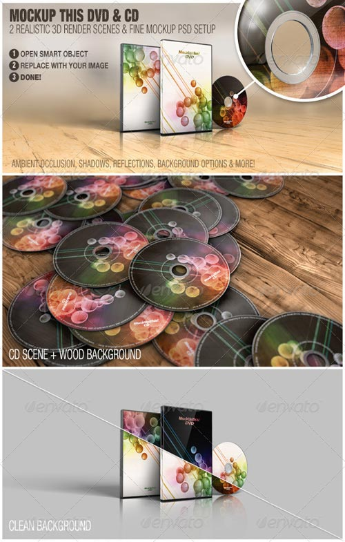 GraphicRiver Mockup This DVD & CD