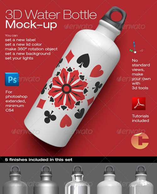 GraphicRiver 3d Object - Water Bottle Mock-up