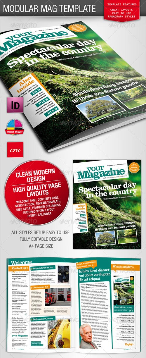 GraphicRiver Vibrant Magzine Indesign Template