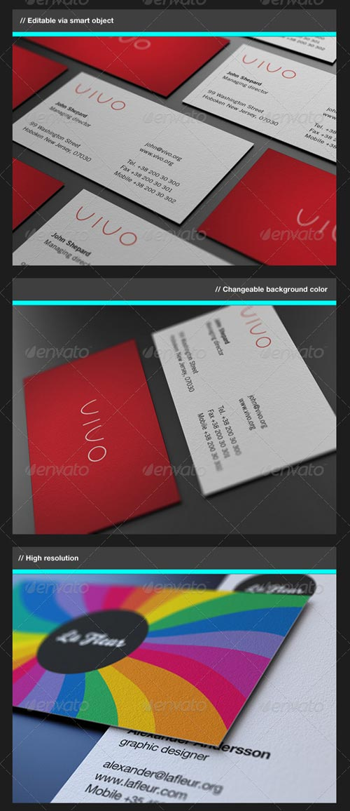 GraphicRiver Business Card Mock-Up