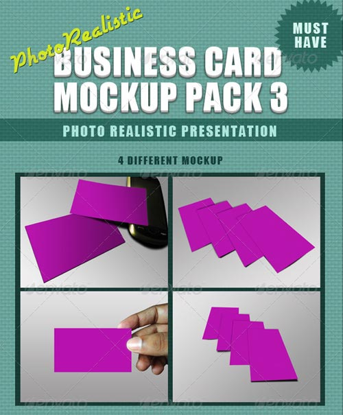 GraphicRiver Photorealistic Business Card Mockup - 3