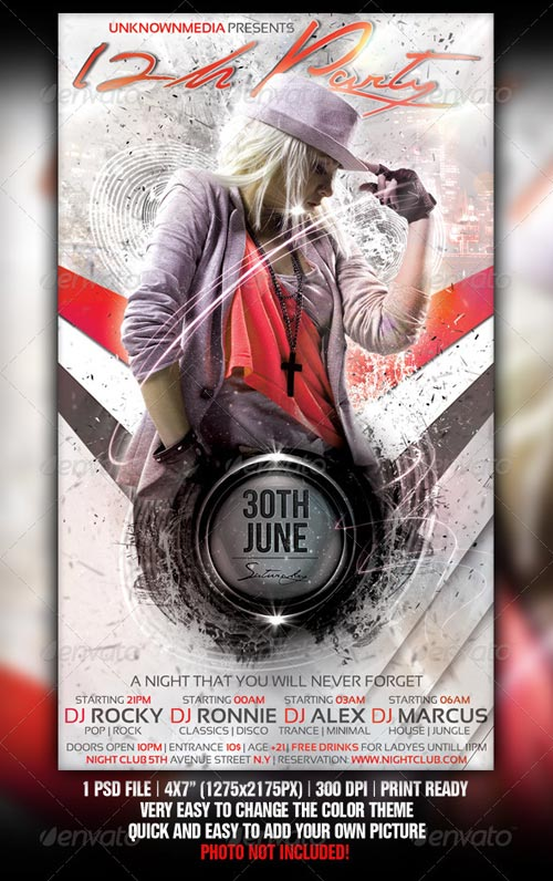GraphicRiver 12h Party Flyer Template Design