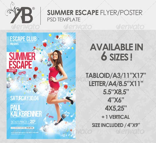 GraphicRiver Summer Escape Poster/Flyer