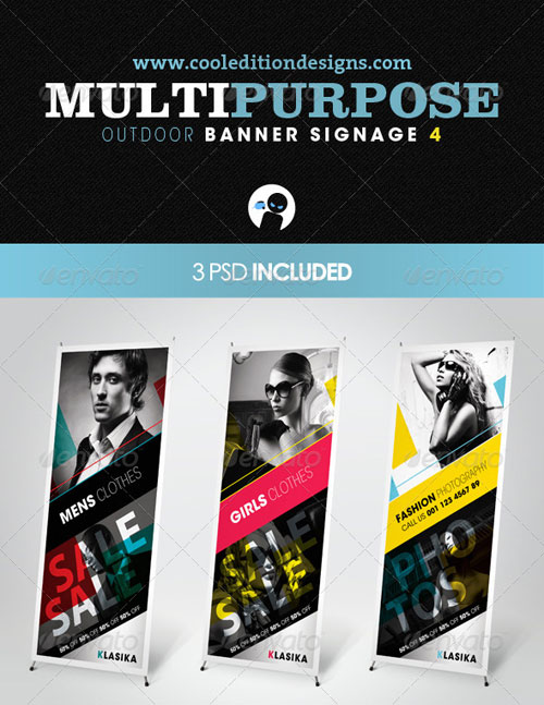 GraphicRiver Multipurpose Outdoor Banner Signage 4