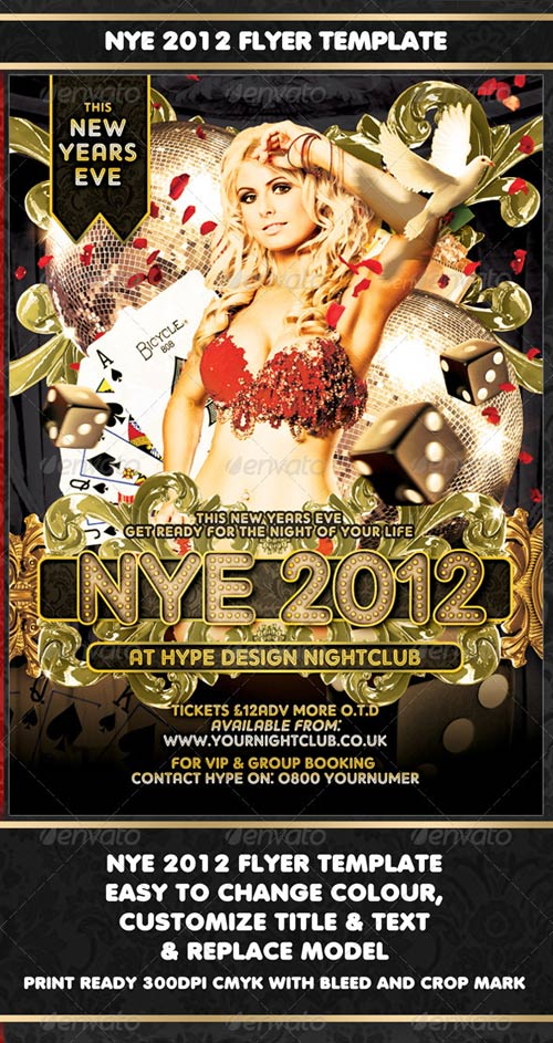 GraphicRiver NYE 2012 Flyer Template