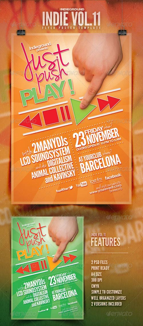 GraphicRiver Indie Flyer/Poster Vol. 11