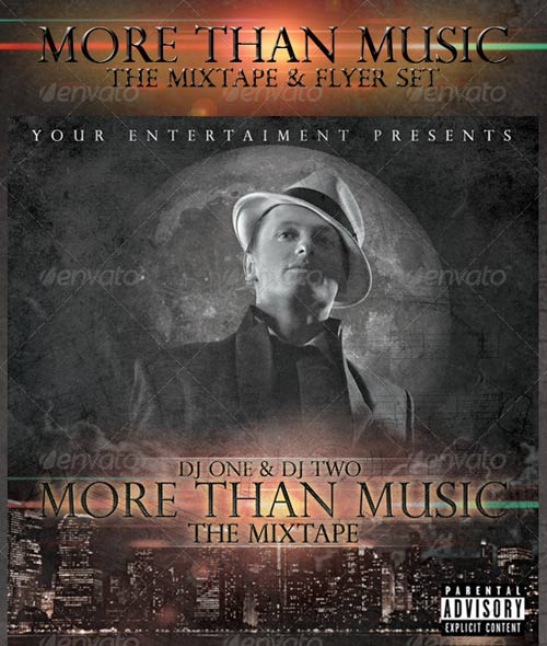 GraphicRiver More Than Music - Mixtape and Flyer Template