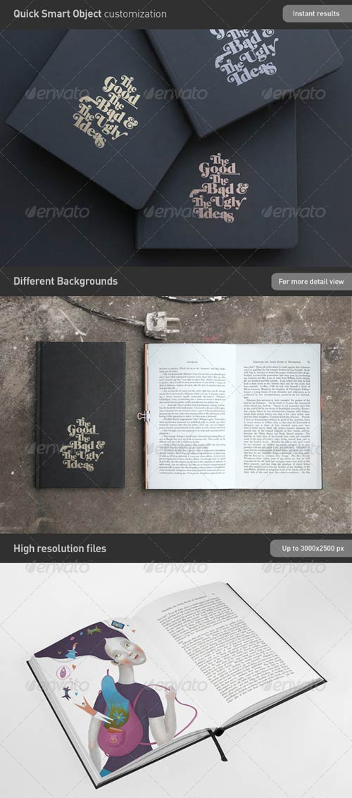 GraphicRiver Book | Brochure Mock-Up