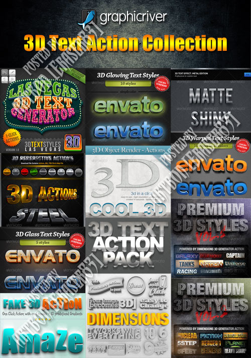 GraphicRiver 3D Text Action Collection