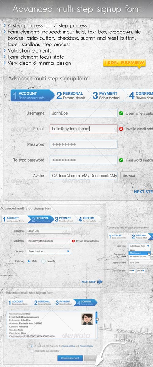 GraphicRiver Advanced Multi Step Signup Form