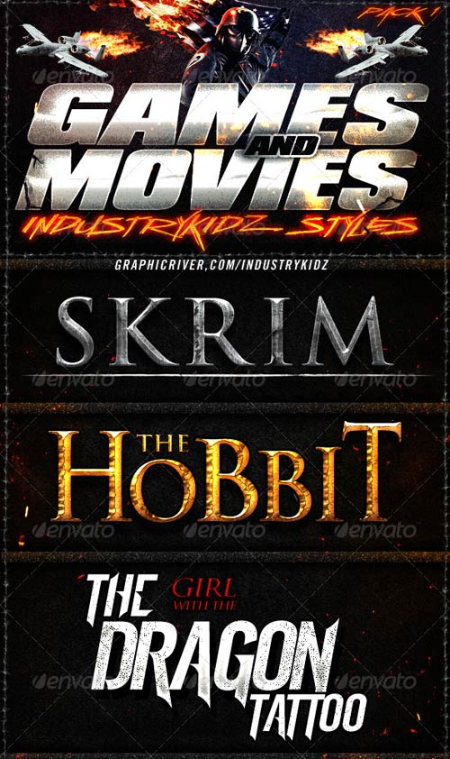 GraphicRiver Game and Movies Photoshop Styles