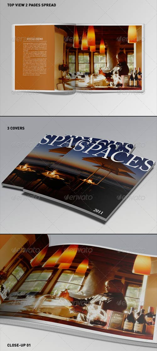 GraphicRiver Realistic Square Brochure Mock-ups Templates