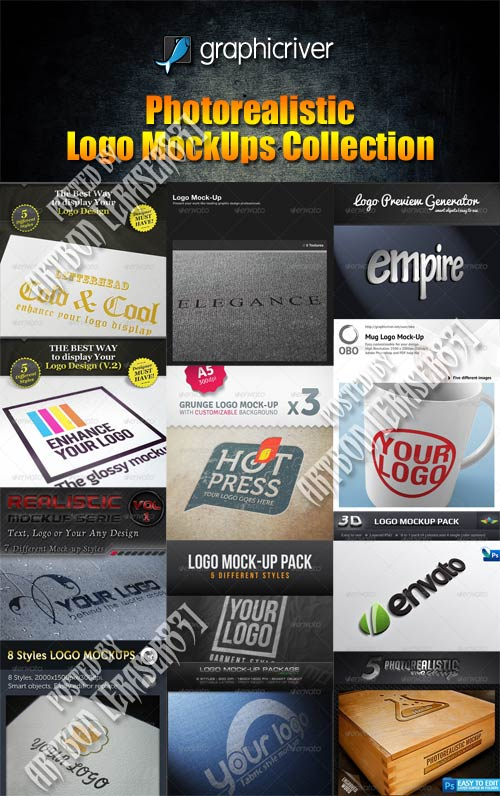 GraphicRiver Photorealistic Logo MockUps Collection