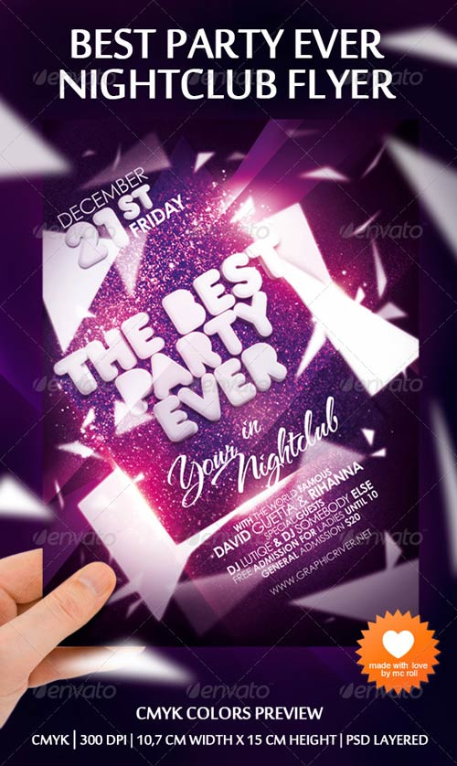 GraphicRiver Best Party Ever Nightclub Flyer