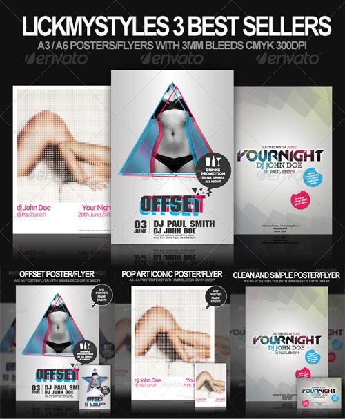 GraphicRiver Top Selling Poster / Flyer Bundle