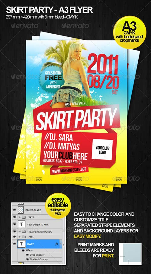 GraphicRiver Simple Beach Flyer A3
