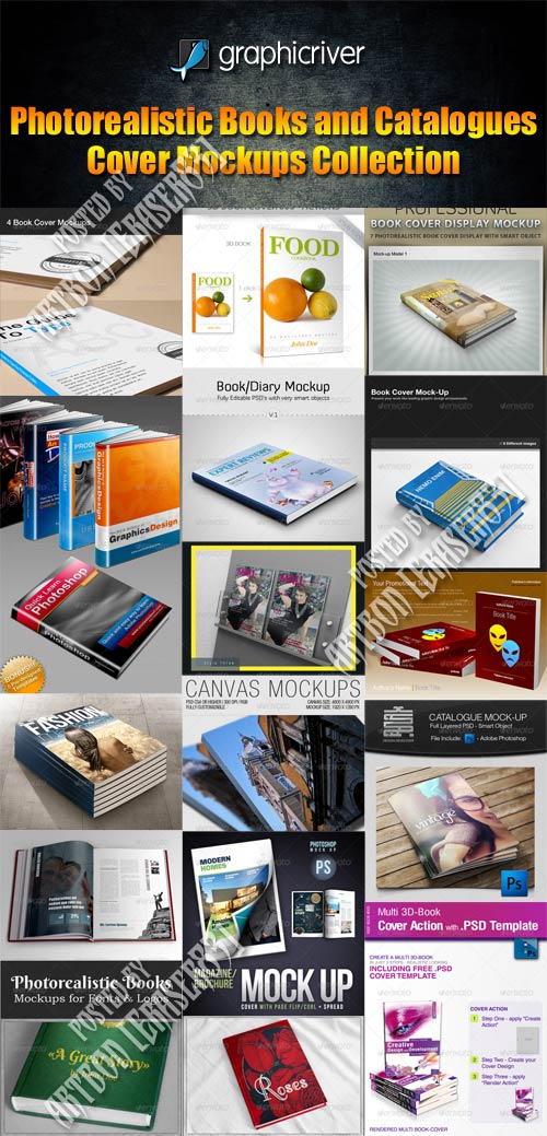 GraphicRiver Photorealistic Books and Catalogues Cover Mockups Collection