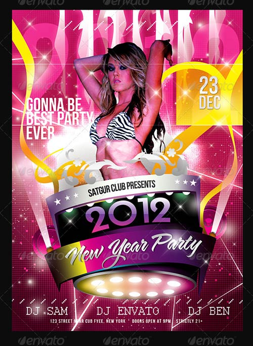 GraphicRiver 2012 Sensational New Year Dance Music Party Night