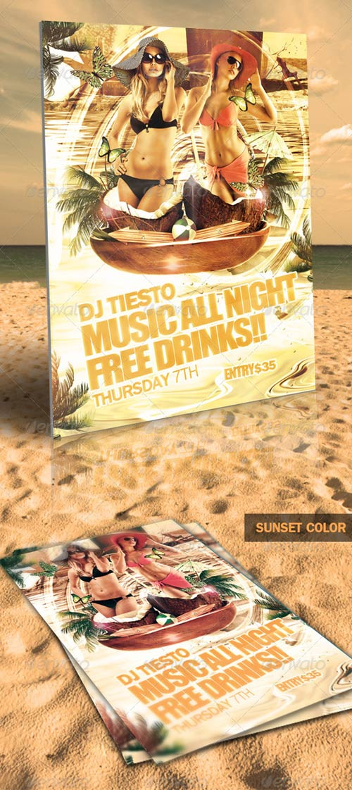 GraphicRiver All Night Beach Party