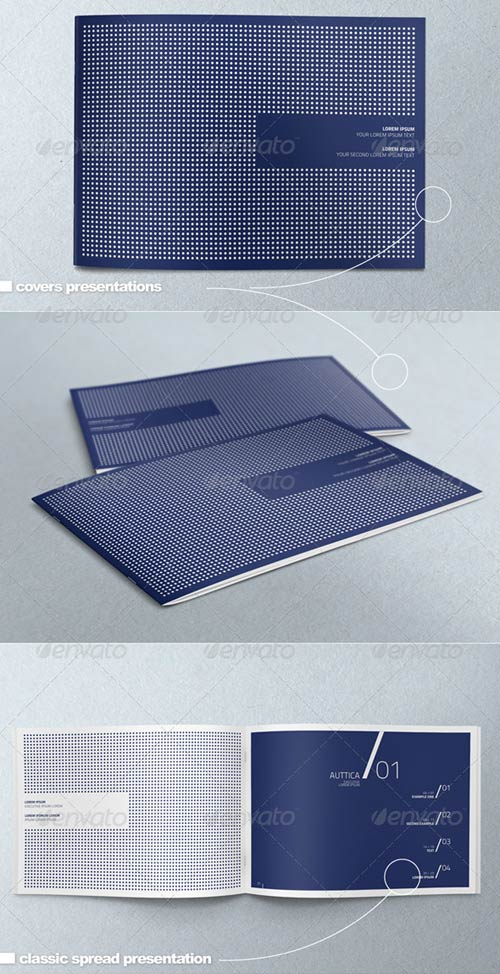 GraphicRiver Horizontal A4 Brochure Mock-up