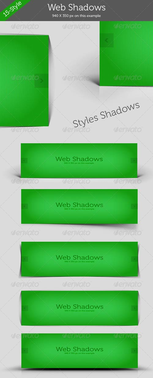 GraphicRiver Web Shadows Style Pack