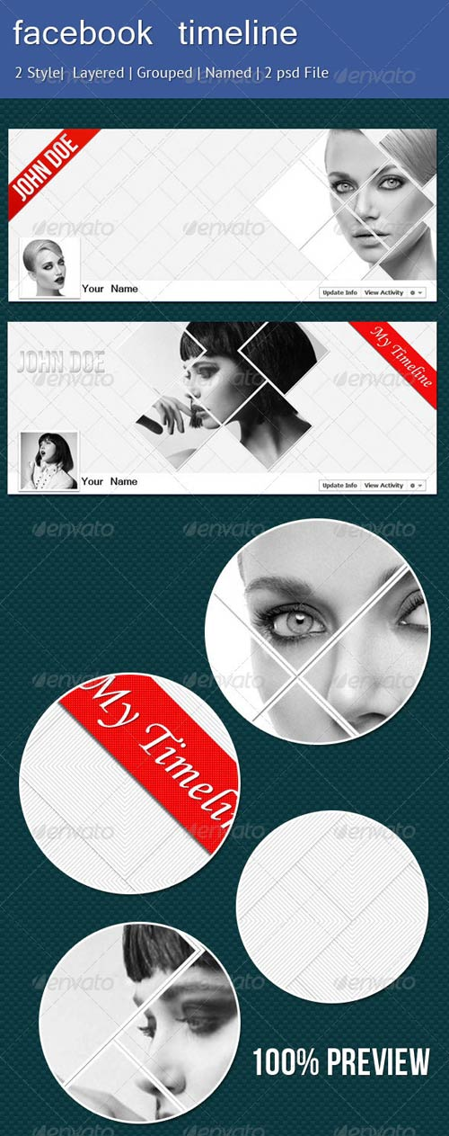GraphicRiver Stylish Facebook Timeline