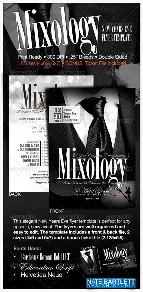 GraphicRiver Mixology - New Years Eve Flyer