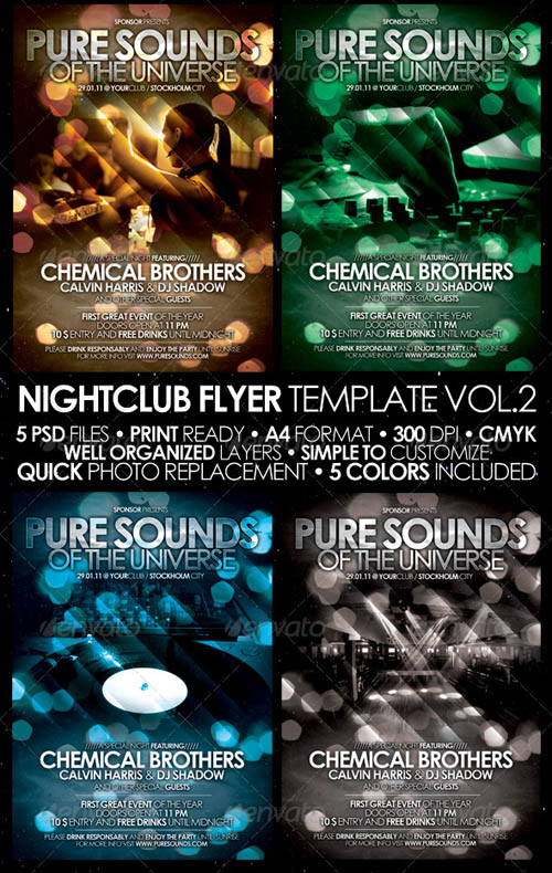 GraphicRiver Nightclub Flyer/Poster Vol. 2