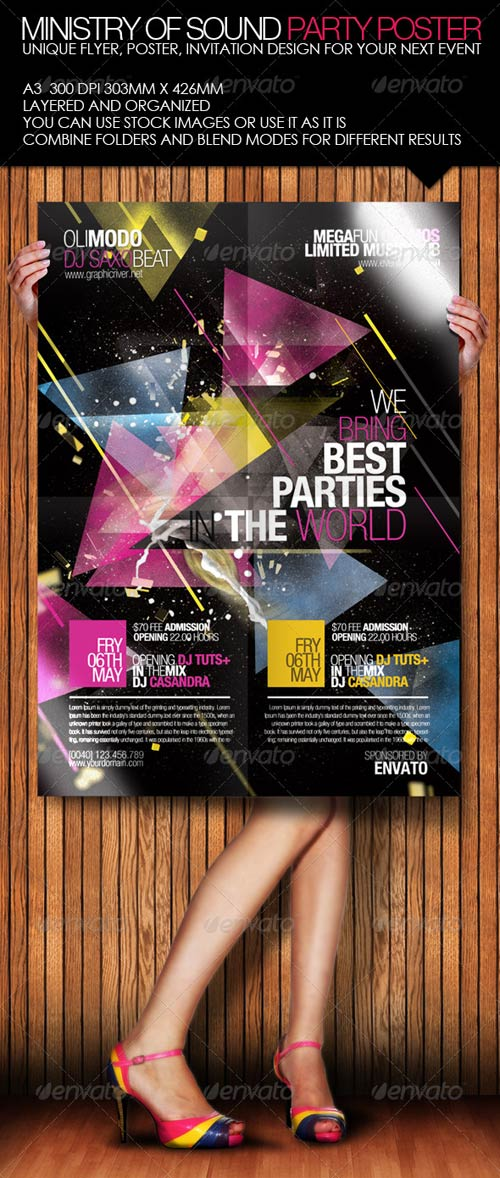GraphicRiver Ministry of Sound Party Poster