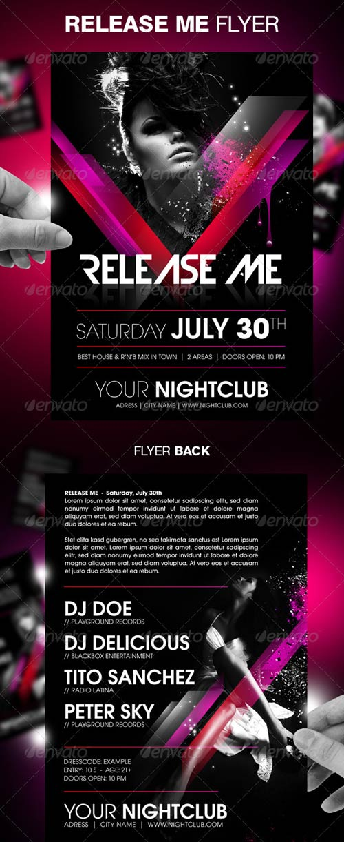 GraphicRiver Release Me Party Flyer