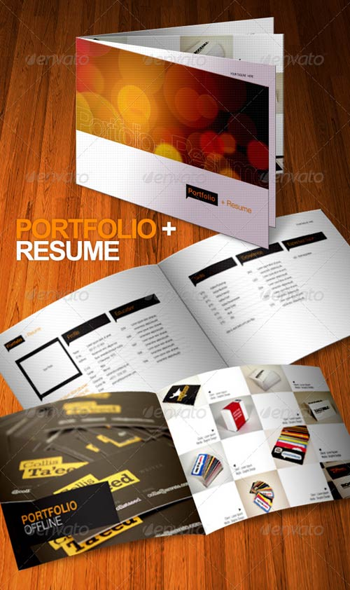 Graphicriver portfolio resume brochure 8 pages for Brochure photoshop template